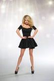 Piękny kobiety blondynki mody model obrazy royalty free