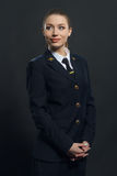 Piękny kobiety linii lotniczej pilot obraz stock