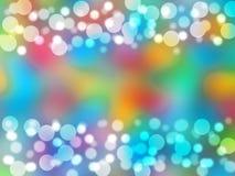 Piękny kolorowy abstrakcjonistyczny kółkowy bokeh tło ilustracji