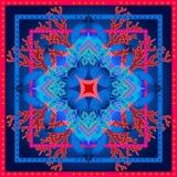 Piękny kolorowy ciosowy geometryczny wzór z Indiańskimi sztuka motywami Obraz Stock