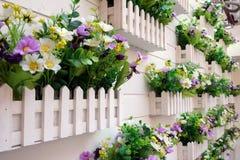 Piękny kolorowy kwiatu wzór na ściennym tle w Szanghaj Zdjęcie Stock