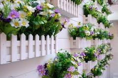 Piękny kolorowy kwiatu wzór na ściennym tle w Szanghaj Fotografia Stock