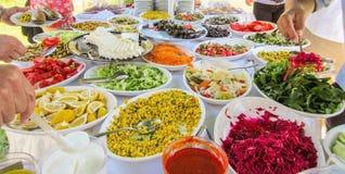 Piękny Kolorowy rozszerzanie się Turecki lunch z warzywami fotografia royalty free
