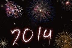Piękny kolorowy tło dla nowy rok z fajerwerkami Obrazy Stock