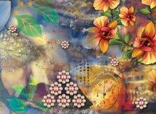 Piękny kolorowy tło i kwiecisty projekt obrazy royalty free