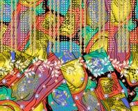 Piękny kolorowy tło wzór obraz royalty free