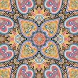 Piękny kolorowy tekstylny druku szalika projekt ilustracji