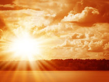 Piękny kolorowy wschód słońca Zdjęcie Royalty Free
