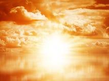 Piękny kolorowy wschód słońca Zdjęcia Royalty Free