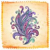 Piękny koloru Paisley ornament ilustracji