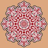 Piękny koronka wzór. Kółkowy tło. Fotografia Royalty Free
