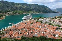 Piękny Kotor pejzaż miejski obraz royalty free