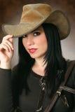 piękny kowbojka nosić kapelusz Obraz Stock