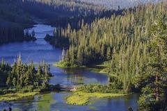 Piękny krajobraz bliźniaków spadki Przegapia zdjęcia stock