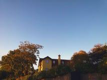 Piękny krajobraz dom obrazy stock
