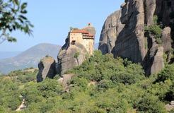 Piękny krajobraz Meteor Monaster, Kalambaka, Kastraki, środkowy Grecja Obraz Royalty Free