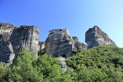 Piękny krajobraz Meteor Monaster Varlaam Kalambaka, Kastraki, środkowy Grecja Obraz Stock