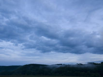 Piękny krajobraz na górze z ładnym niebem Fotografia Royalty Free