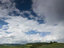 Piękny krajobraz na górze z ładnym niebem Zdjęcie Stock