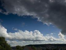 Piękny krajobraz na górze z ładnym niebem Obraz Stock