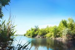 Piękny krajobraz na słonecznym dniu Fotografia Stock