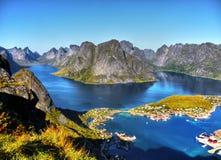 Piękny krajobraz, Reine, Lofoten Obraz Stock