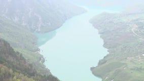 Piękny krajobraz rzeka i wzgórza zbiory