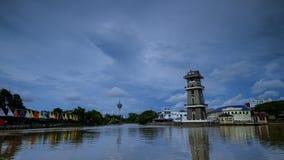 Piękny krajobraz rzeka przy północą Malezja Fotografia Stock