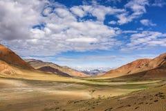 Piękny krajobraz sławny Więcej równiny w Ladakh, India obrazy stock