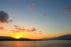 Piękny krajobraz słońce wzrasta Zdjęcia Royalty Free