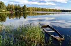 piękny krajobraz s Wrzesień Zdjęcie Royalty Free