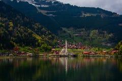 Piękny krajobraz turystyczny miejsce Uzungol fotografia stock