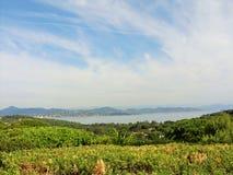Piękny krajobraz w świętym Tropez Obraz Royalty Free