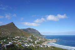 Piękny krajobraz wybrzeże przylądka miasteczko, Południowa Afryka Zdjęcie Royalty Free