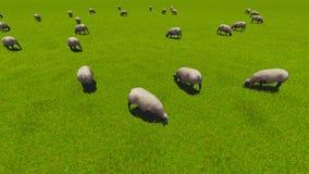 Piękny krajobraz - wzgórza zakrywający zieloną trawą ilustracji