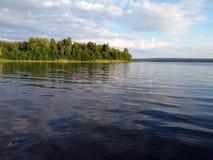 piękny krajobraz z łodziami obraz stock
