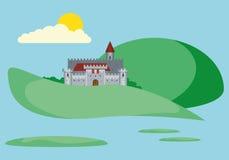 Piękny krajobraz Z Starym fortecą Zdjęcia Royalty Free