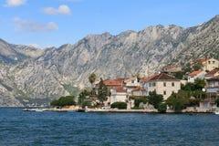 Piękny krajobraz zatoka Kotor w Montenegro obrazy royalty free