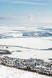 piękny krajobrazowy śnieżny Fotografia Royalty Free