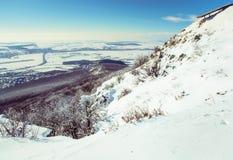 piękny krajobrazowy śnieżny Zdjęcia Stock