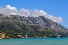 piękny krajobrazowy śródziemnomorski Budva Montenegro Zdjęcia Stock