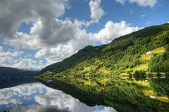 piękny krajobrazu po norwesku fotografia royalty free