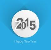 Piękny kreatywnie błękitny kolorowy nowego roku 2015 tło Obrazy Stock