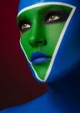 Piękny kreatywnie makeup zdjęcie stock