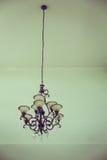 Piękny krystaliczny świecznika tło (Filtrujący wizerunek przetwarzający rocznik Zdjęcia Stock