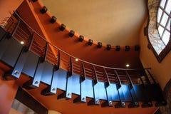 Piękny kurenda balkon w budynku zdjęcia stock