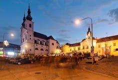 Piękny kwadrat w starym miasteczku Brno, republika czech fotografia stock