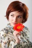 piękny kwiat wręcza jej kobiety Obraz Royalty Free