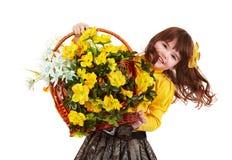 piękny kwiatu dziewczyny dziki kolor żółty Obrazy Stock