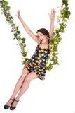 piękny kwiatu dziewczyny huśtawki chlanie Fotografia Stock